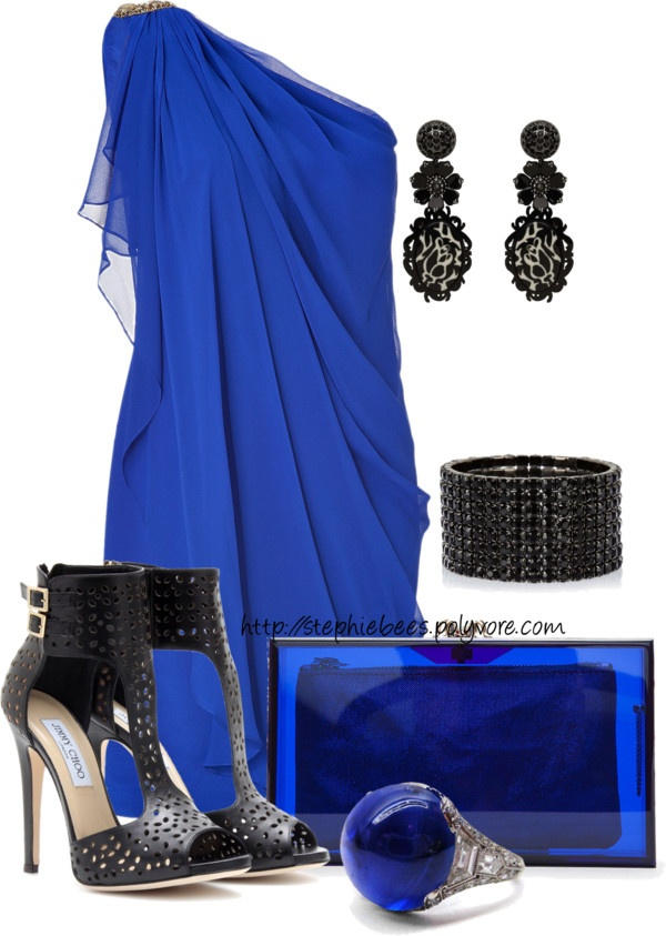 U0026quot;Blue Dressu0026quot; by stephiebees on Polyvore | Rockin a Night on the Town. | Pinterest | Red carpets ...