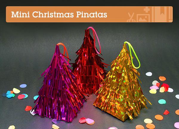 Make the Cutest Mini Christmas Piñatas – Tuts+ Tutorials #diyornament #diyholiday #diypinata