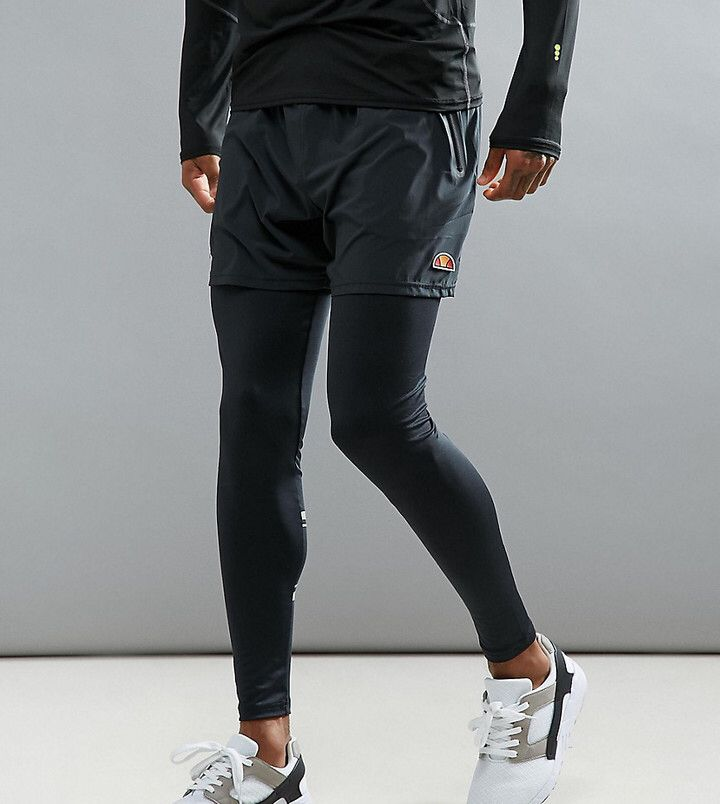 Ellesse Sport Running Tights, Men's Compression tights, training tights, gym tights, yoga leggings, barre leggings, jogging tights, cold weather running, breathable, moisture wicking, athletic wear, gym wear, men's fitness, sports wear, health wear, weight loss wear, activewear, #affiliate, #ad