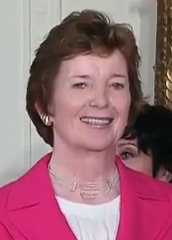 The first female President of Ireland from 1990-1997 and UN Commissioner for Human Rights from 1997-2002. Mary Robinson comes from Ballina in north Mayo, Ireland.