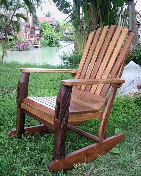 about Adirondack rocking chair on Pinterest  Wooden garden furniture ...