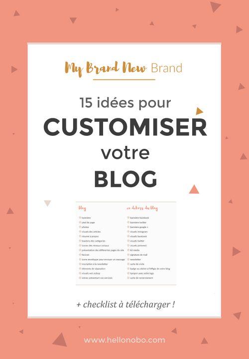 15 idées pour personnaliser votre blog