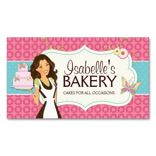 7 best projects to try images on pinterest bakery business cards whimsical bakery business card reheart Gallery