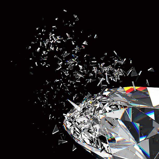 3d Rendered Sparkling Diamond Refraction On Black Background Black Diamond Wallpaper Black Sparkle Background Sparkles Background