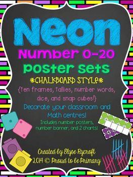 neon chalk board