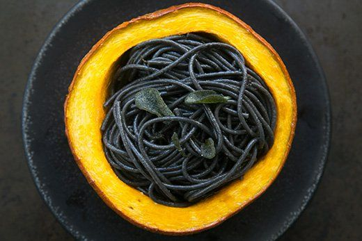 Squid Ink Pasta with Pumpkin, Sage and Browned Butter Recipe ...
