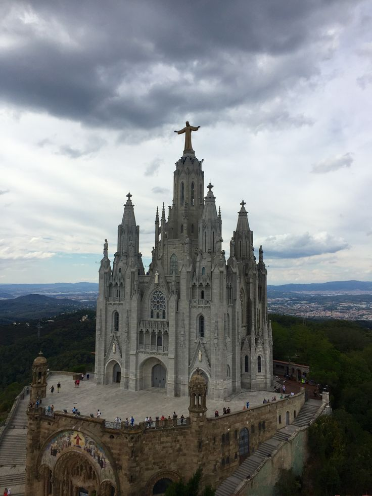 I took this picture while on the top of Tibidabo, this is the Temple of the Sacred Heart of Jesus. The church has neo-gothic design influence, and at the top of the Church is a statue of Jesus Christ who is the most honored savior in the Christian religion.