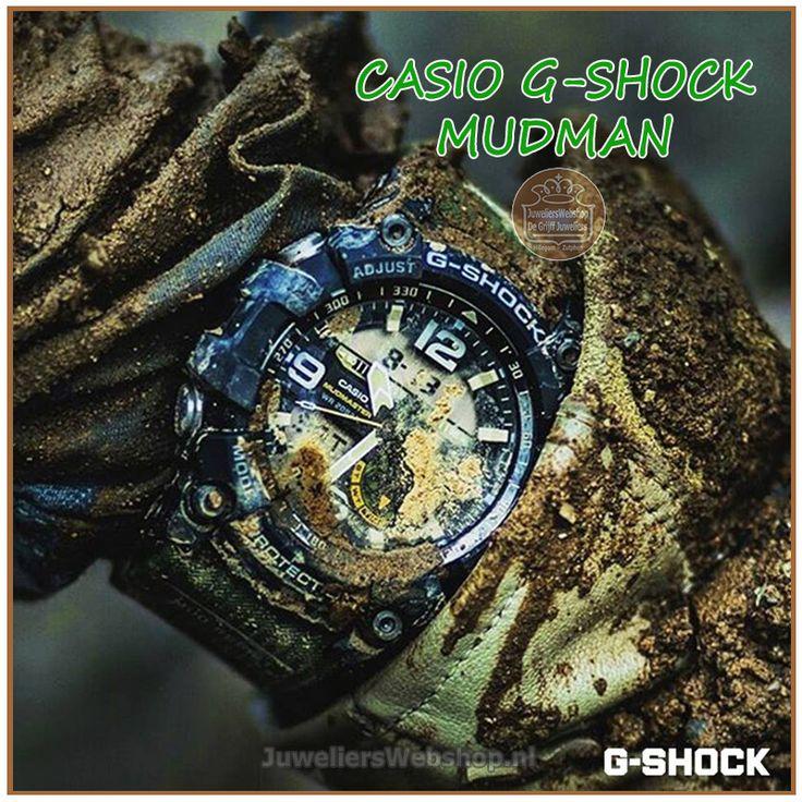 Casio G-Shock Mudman Geweldig horloge om tot uitersten te gaan. Ook geschikt voor in je tuin of op het strand! #mudman #gshock #casio #ga1000