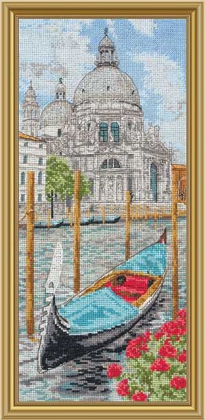 Basilica Saint Maria, Faraway Places, counted cross-stitch