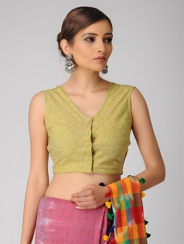 24fa012bd4b5b Yellow Handloom Cotton Blouse