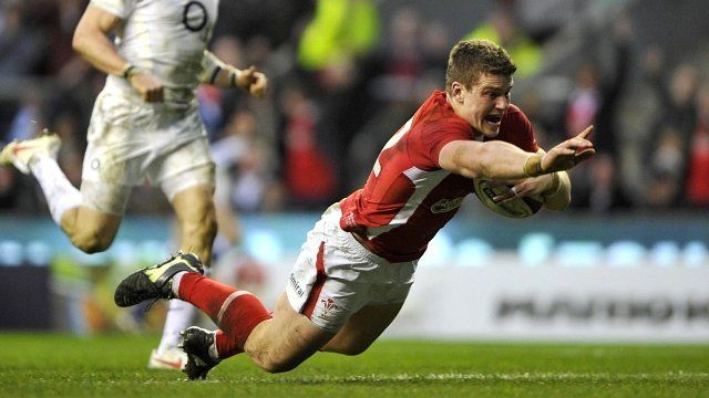 Scott Williams scoring the winning try - always a treat to beat England in Twickenham :)