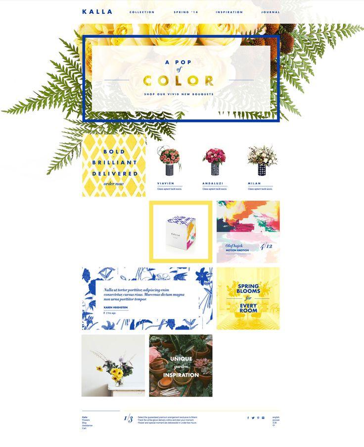 Kalla | Modern Online Floral Experience by Donhkoland #Approach #Design #Donhkoland more on http://themeforest.net/?ref=Vision7Studio