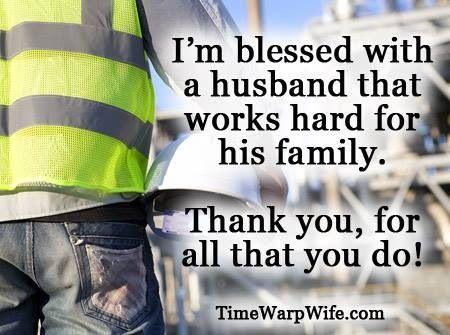My husband and work
