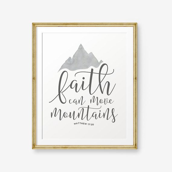 Glauben kann Berge  Matthew versetzen 17:20 von PrintableSky