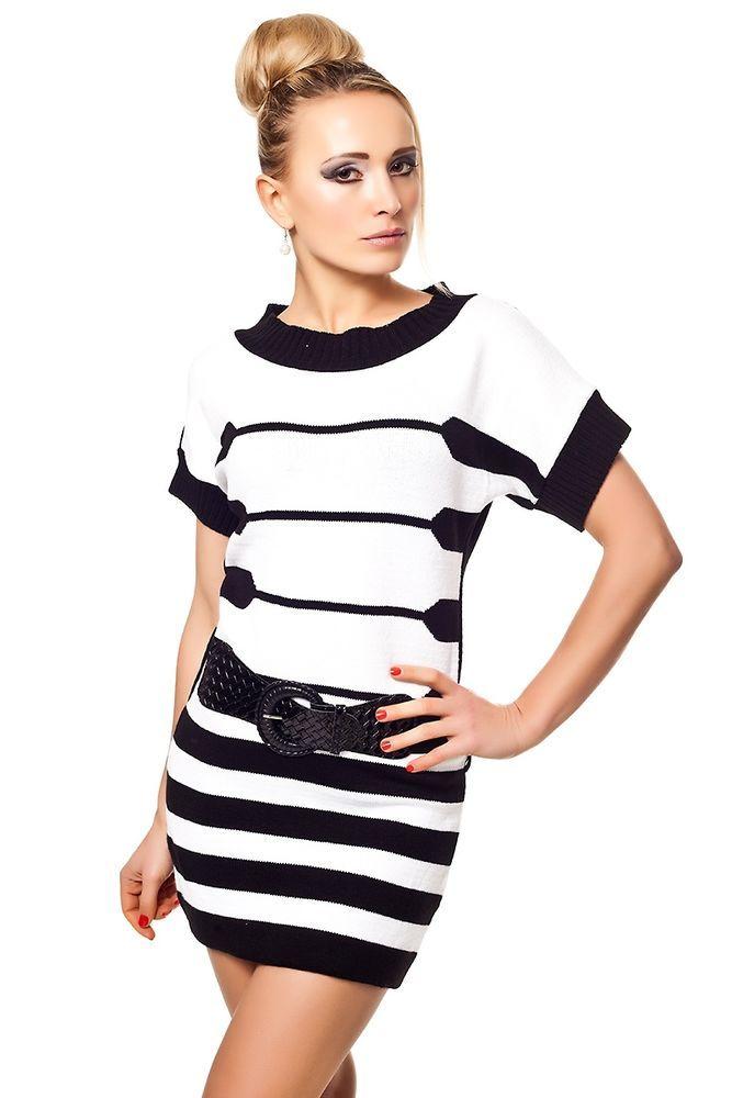 Long Pullover mit Gürtel,Kleid, Minikleid, Longshirt,Shirt,Long Top 36/38 Einhei