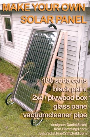 DIY solar panels for heating... perfect for a greenhouse!
