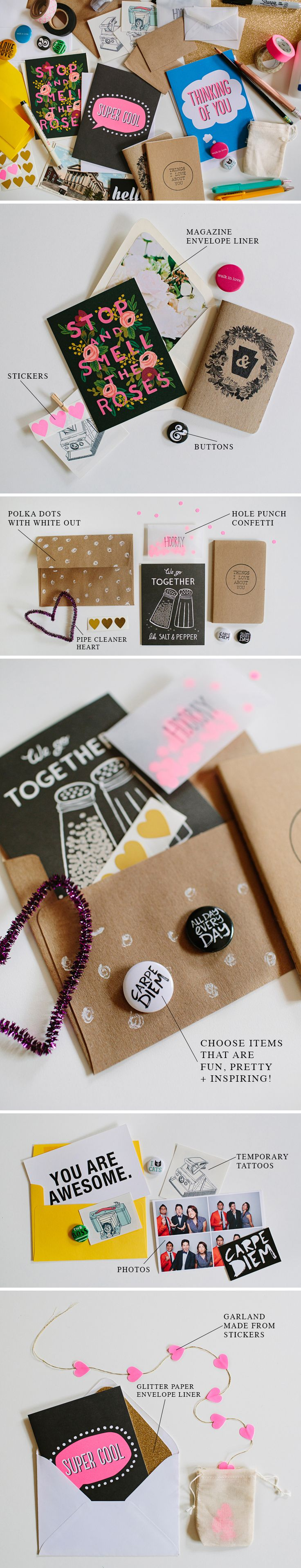 Send some awesome snail mail | walk in love. How pretty is all this?!