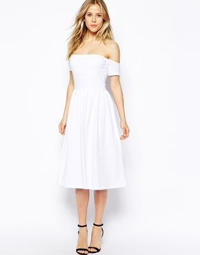 ASOS Midi Bardot Skater Dress