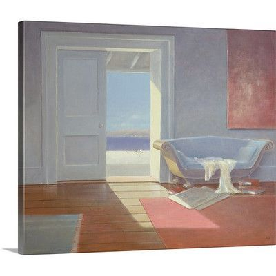 Canvas On Demand Beach house, 1995 by Lincoln Seligman Painting Print on Canvas