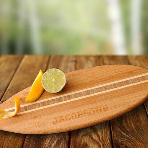 Surfboard Bamboo Cutting Board