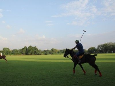 Close-up of Polo player at Jaipur Polo Club, Rajasthan, India