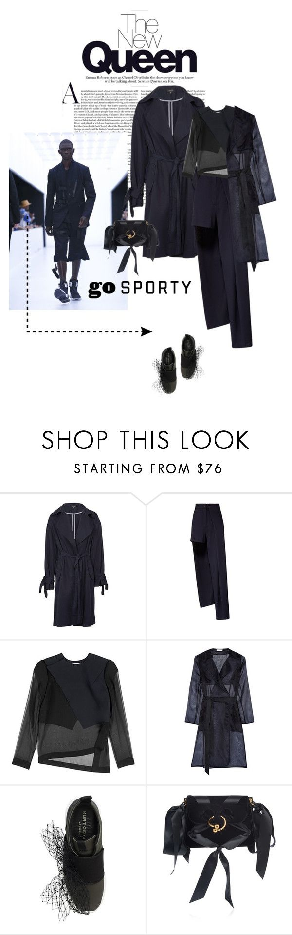 """""""Pierce Bag : New Contest"""" by vilen ❤ liked on Polyvore featuring Topshop, Anthony Vaccarello, Dion Lee, Milly, Kurt Geiger, sporty, menswear, sneakers and polyvoreeditorial"""