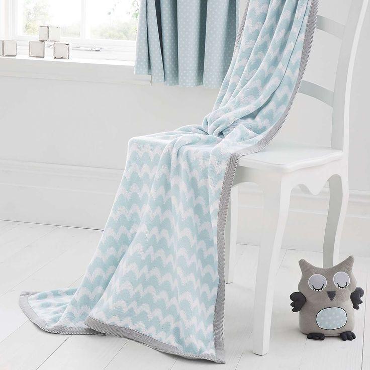 Little Owls Nursery Knitted Blanket | Dunelm