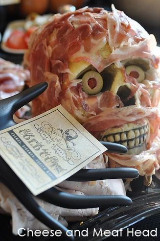 Meat and Cheese Head - 5 Halloween Party Décor Ideas for