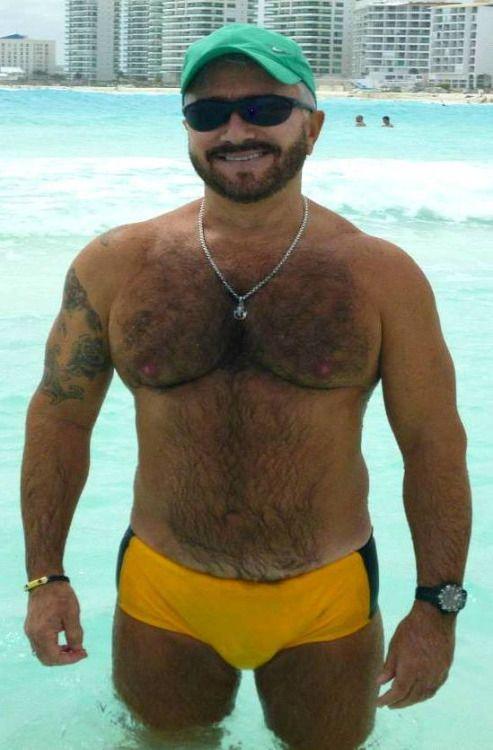 Bulging Speedos | hair | Hairy men, Men sweater und Swimwear