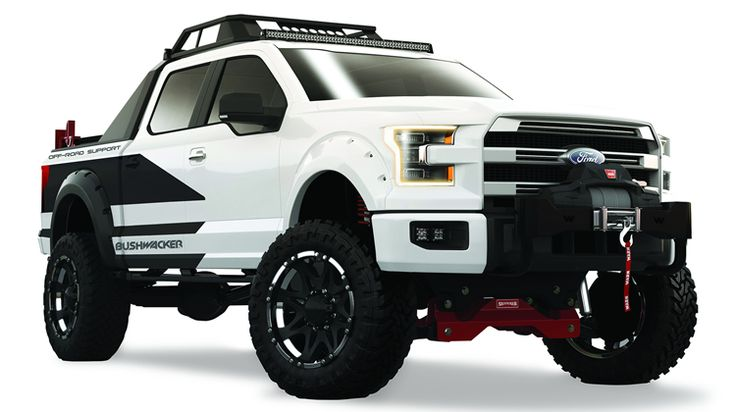 Using a 2015 Ford F150 Raptor as a base platform, Bushwacker created an off-road support truck featuring items like spare tires, fuel cans, air compressors, and recovery gear.