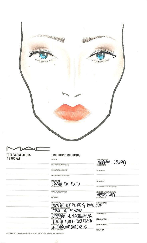 """Facechart de MAC Cosmetics para """"El Lago de los cisnes"""""""