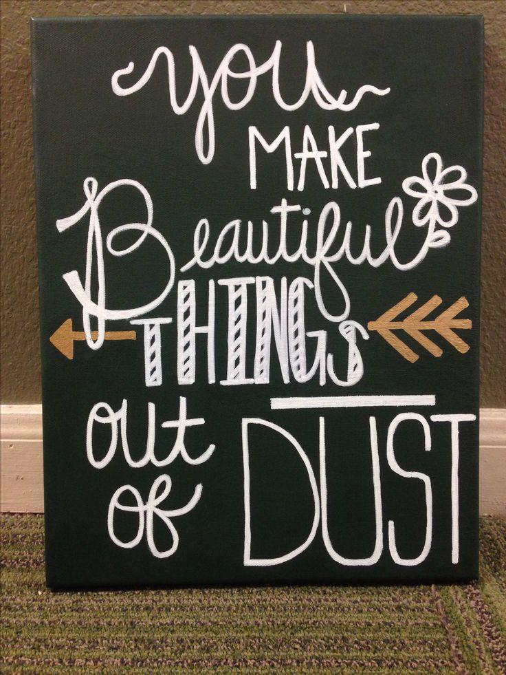 DIY canvas, bible verse canvas. It's cute and totally recreatable :)
