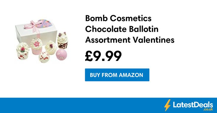 Bomb Cosmetics Chocolate Ballotin Assortment Valentines Bath Gift Set, £9.99 at Amazon