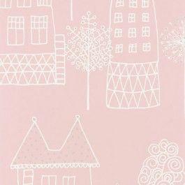 Kinder behang Sandberg Kaspar pink