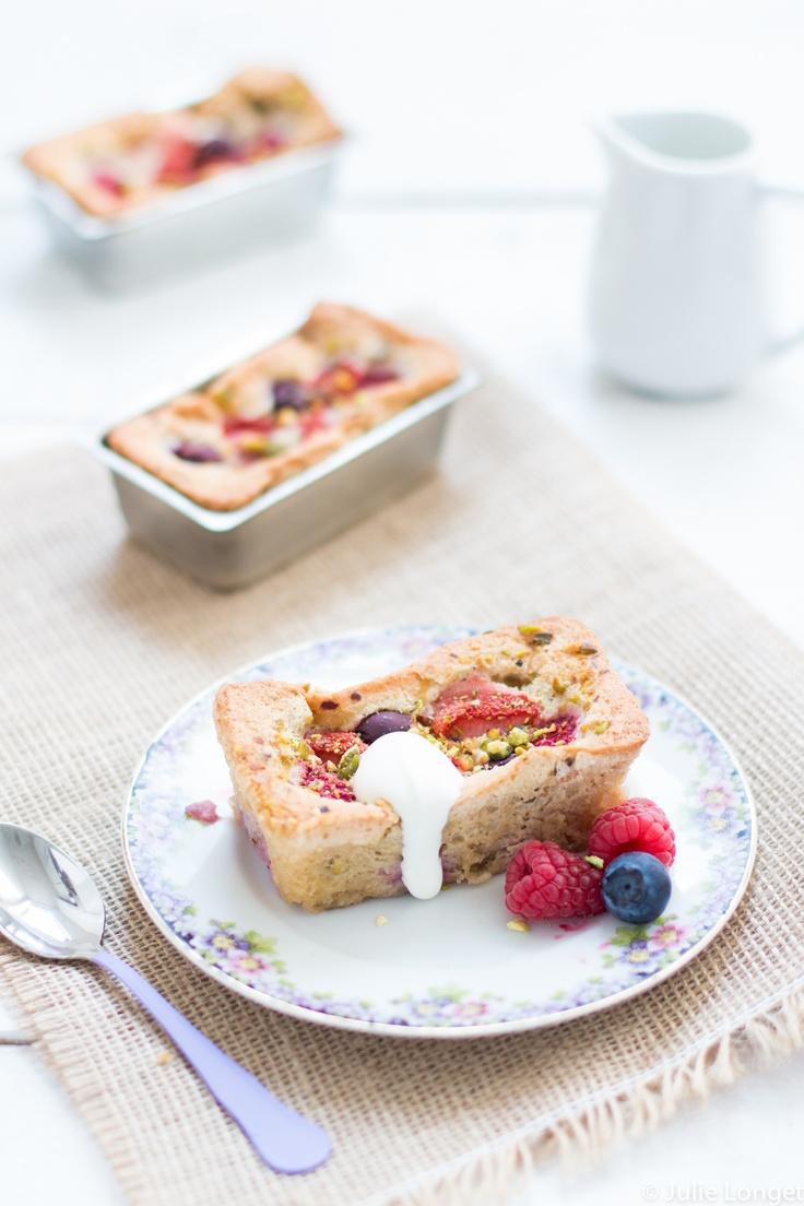 mini gâteaux aux fruits d'été grué de cacaO et huile d'olive