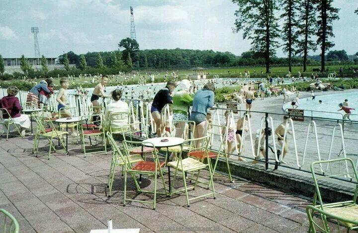 Nederland, Enschede, het Diekman, zwembad.