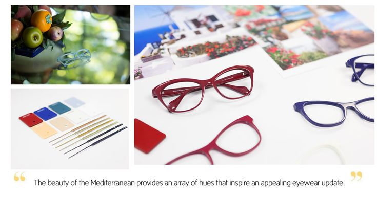 Kam Dhillon Mediterranean Collection glasses colour inspiration
