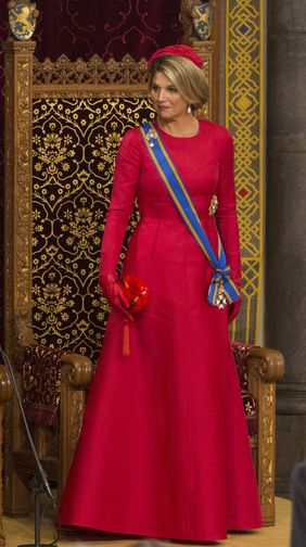 Queen Máxima, September 16, 2014 in Fabienne Delvigne   Royal Hats...........Posted on September 16, 2014 by HatQueen.....It's Prinsjesdag! Every year on the third Tuesday of September, the Dutch monarch addresses a joint session of the Dutch Senate and House of Representatives in The Hague.