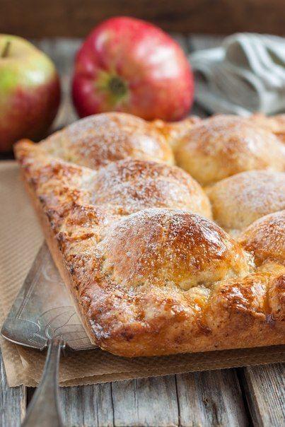 Пирог из творожного теста с яблоками | Таки Вкусно