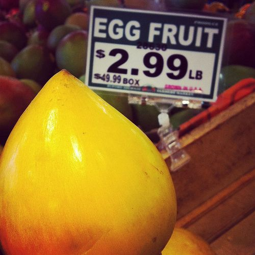 low sugar fruit canistel fruit