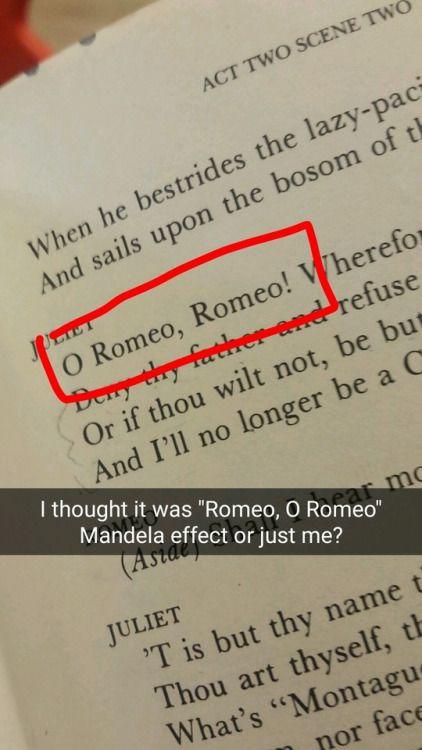 "I remember, ""O Romeo, Romeo!""."