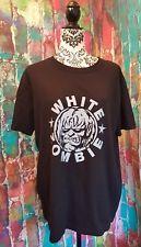 Mens large shirt band tee T-shirt retro vtg style WHITE ZOMBIE Halloween Creepy