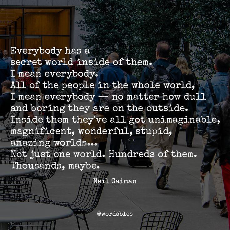 Neil Gaiman is a wonderful writer