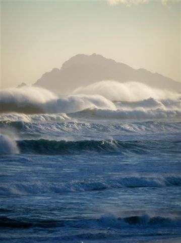 Moody ocean - LagoonAndSea, Hermanus District, Cape Whale Coast, South Africa.