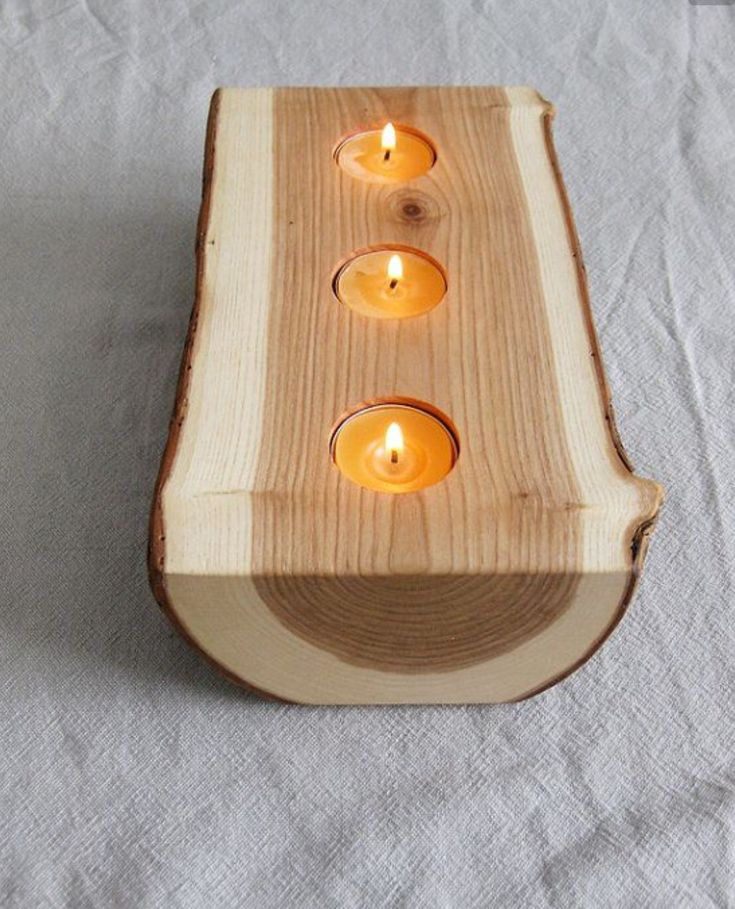Wood and candle