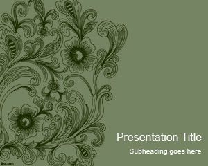 Vintage Swirls PowerPoint Template is a free abstract vintage background that you can download to make presentations in PowerPoint