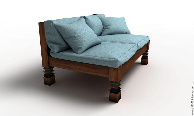 Купить Диван Топчан Новый проект - тёмно-бирюзовый, светлобирюзовый, бирюзовый, стол, диван, топчан