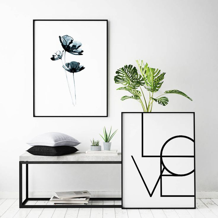 Print with the text, 'LOVE'. Abstract, minimalist design that makes it easy to match with your decor. Feel free to mix typography posters with photos of nature and create a lovely, harmonious picture wall in your home.