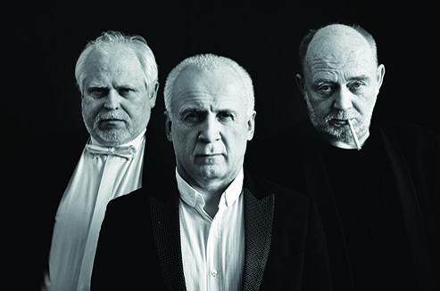 """Pianist and compère Waldemar Malicki; conductor and composer Bernard Chmielarz and director Jacek Kęcik talk with Justyna Golędzinowska and Weronika Ukleja about their work and the project """"Philharmonic of Wit""""."""
