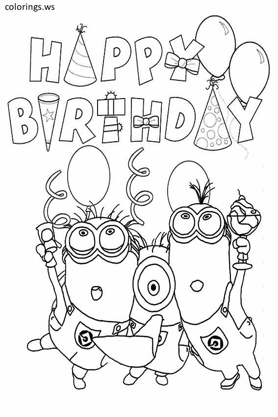 happy birthday minion template for